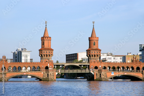 canvas print picture Oberbaum bridge - Berlin
