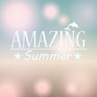 Colorful blurred hipster summer background with text