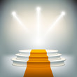 Illuminated stage podium for award ceremony vector - 67784872