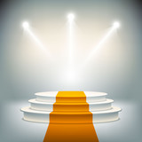 Illuminated stage podium for award ceremony vector - 67784872