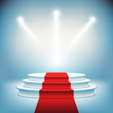 Illuminated stage podium for award ceremony vector - 67784874