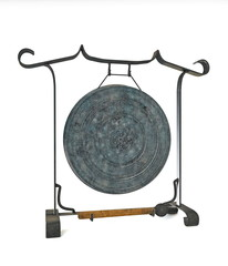 Gong isntrument isolated