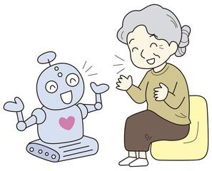 話し相手になる介護ロボット