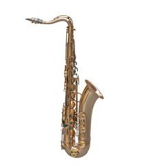 Tenor saxophone instrument isolated