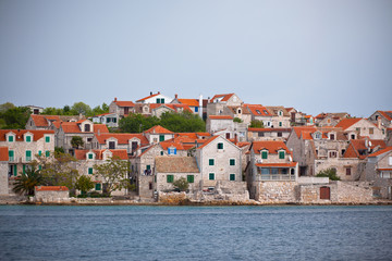 Village Sepurine, Prvic island, view from the sea