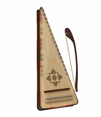 Psaltery isolated