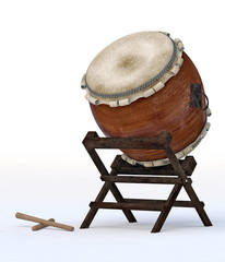 Taiko instrument isolaetd