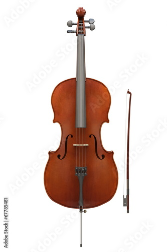 Cello instrument isolated - 67785481