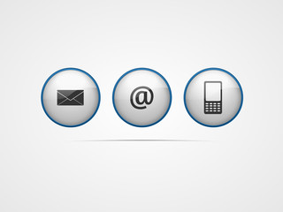 Contact us - kontaktieren Sie uns - Web Icons