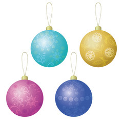 Christmas decoration, set balls