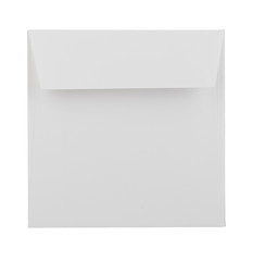white envelope isolated on white background