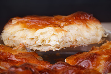 Slice burek with cheese