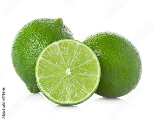 canvas print picture lime isolated on white background