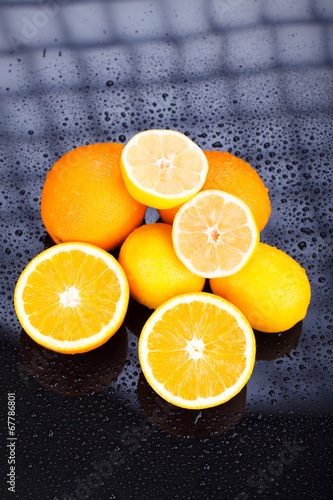 canvas print picture Delicious Citrus fruits