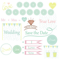 cute wedding invitation elements