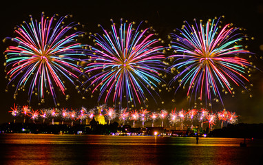 Fireworks celebrarion Redentore (venice, Italy)