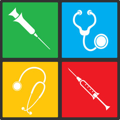 Medical vector icon set