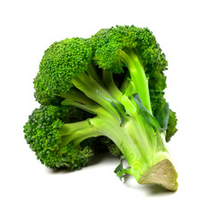 Broccoli on white background