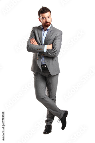 business man isolated on white background. Studio shot.