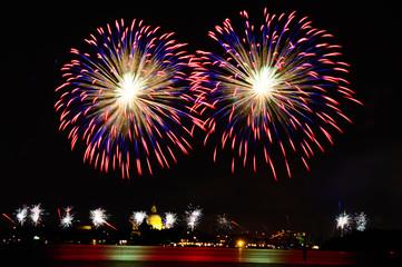 Fireworks celebration Redentore (venice, Italy)