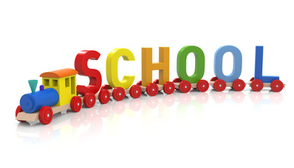 Toy Train & School