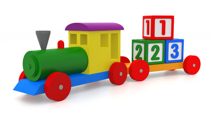 Toy Train & Blocks