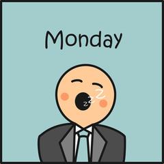 Monday en la oficina