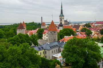 View from Patkuli viewing platform, Tallinn, Estonia
