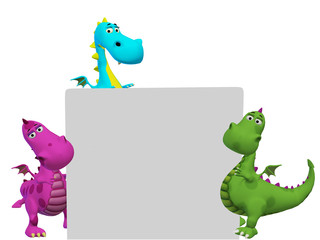 dragons 3d cartoon