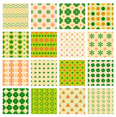 seamless patterns with clover