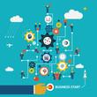 Business start infographics