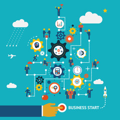 Business start infographics