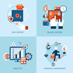 Financial online banking and payment control