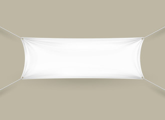 Blank white rectangular horizontal banner