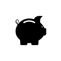 Cute little piggy bank silhouette