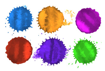 vector colored spots