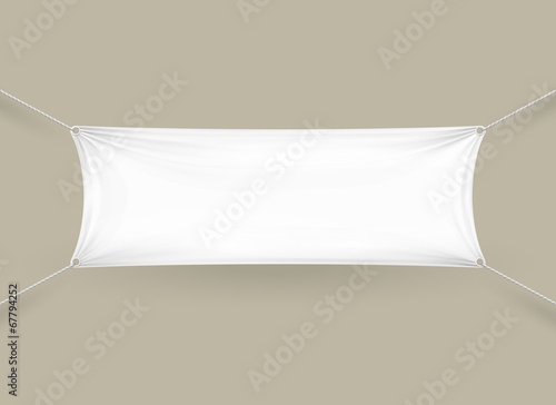 Pusty biały prostokątny poziomy baner