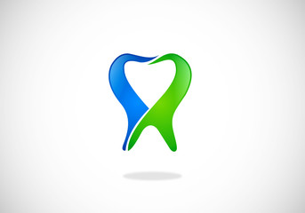 dentist tooth abstract vector logo