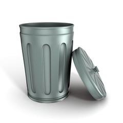 shinny and glossy trashcan