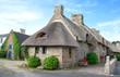 Chaumière bretonne à Kérascoet, Finistère, Bretagne
