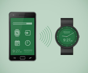 Smartwatch and smartphone communication