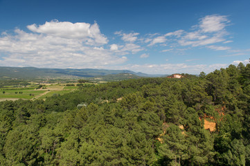 Landscape Luberon in France