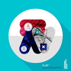 Geometric infographic in trendy flat style