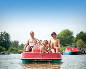 Tretboot fahren