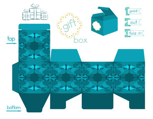 Printable Gift Box With Abstract Pattern
