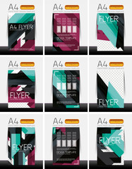 Abstract flyer - brochure templates set