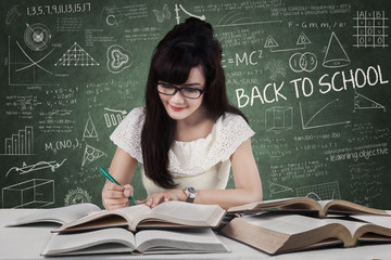 Student start to study in class 1