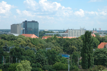 Poznan city view