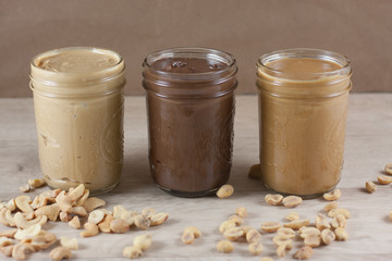 Nut Butter In Jars