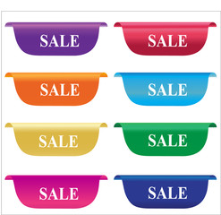 Sale labels, badges, horizontal